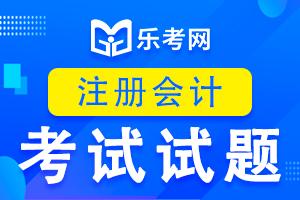 注册会计师cpa考试《会计》练习题(6)