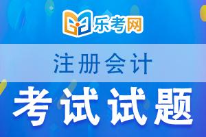 注册会计师cpa考试《会计》练习题(7)
