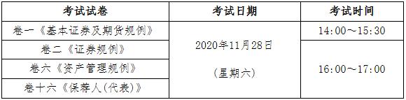 2020年11月中国香港证券从业资格考试时间